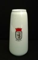Leárazva! Metzler & Ortloff  porcelán váza Berlin címerével