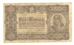 100 korona 1923 2. Nyomdahely nélkül