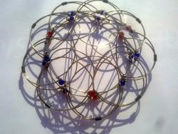 Mandala Élet Virága gyöngyös fém, több formára állítható