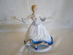 Nagyon szép jelzett táncoló balerina Crown Regal porcelán