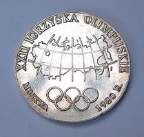24.Téli olimpia,Moszkva 1980,Lengyel emlékérem.