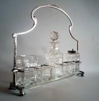 Jelzett szecessziós 'menage' asztali olaj-, fűszertartó 1910