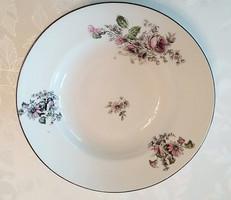 Régi porcelán falitányér rózsás dísztányér virágos tányér 23 cm