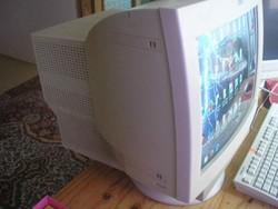 UN1 Retró nagy IBM  súlyos működő monitor 1999-es ritkaság