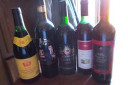 5 palack kb 25 éves vörösbor