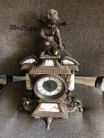 Finoman megmunkàlt bronz kandalló óra