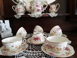 Zsolnay pillagós teás készlet