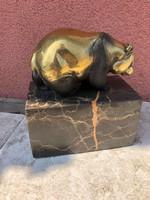 Medve bronz szobor, miguel fernando lopez