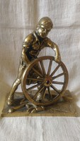 NVB Brass bognár angol réz figura