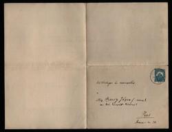Vitéz Barsy József tábornok úr részére! Katona bajtársa haláláról értesítő, 1931.