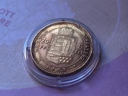 1883 arany 8 forint 6,45 gramm 0,900 gyönyörű darab