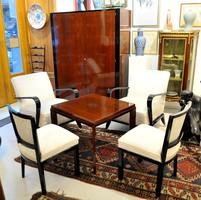 Art deco nappali berendezés, restaurált állapotban