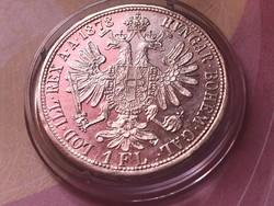1878 ezüst 1 florin,gyönyörű darab kapszulában,így nagyon ritka!!