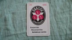 Kártyanaptár órások  1978