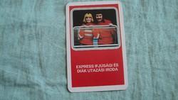 Kártyanaptár utazási iroda 1979