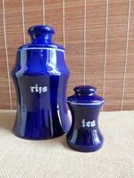 Kobaltkék Gránit konyhai tárolók - rizs és tea