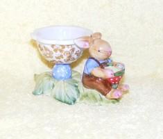 Villeroy & Boch porcelán nyuszis tojástartó figura