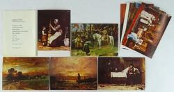 0W189 Munkácsy Mihály képeslap sorozat 9 darab