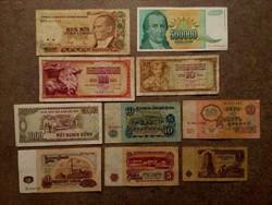 10 db külföldi vegyes bankjegy/id 7739/