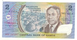 2 Tala 1990 Samoa Szamoa UNC Polymer bankjegy