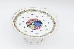 Ritka Gránit-Kispest tortatál - desszertes, süteményes állvány - retro porcelán