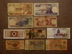 10 db külföldi vegyes bankjegy/id 7729/