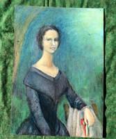 Déghy Rita festőművész alkotása ! (Szendrey Júlia portré)