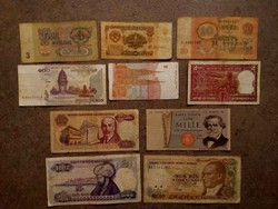 10 db külföldi vegyes bankjegy/id 7727/