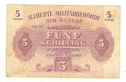 5 schilling 1944 Ausztria katonai