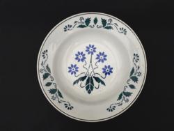 Jelzett antik német fajansz falitányér - népi paraszt tányér, falidísz