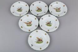 6db Herendi Hunter Trophies mintás süteményes tányér I.