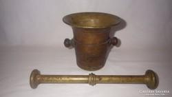 Antik réz mozsár törővel MO9 3 Kg