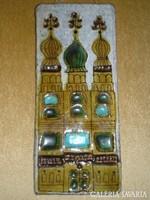 Balczó Edit: Orosz kupolás templom csempekép