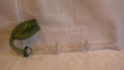 Antik színes üveg pipa , gyűjtői darab
