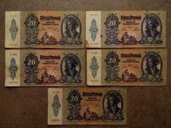 5 db 20 pengő 1941/id 7712/