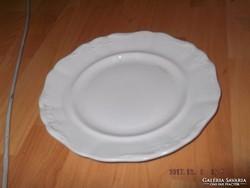 Cseh fehér lapos tányér régi  23.5 cm