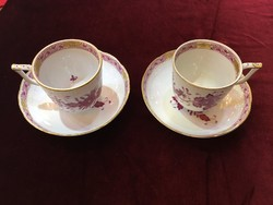Herendi purpur indiai kosár mintás kávés csésze és alj
