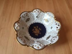 GDR német porcelán gyümölcsös tál
