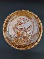 Karcagi fácán madaras kerámia falitányér