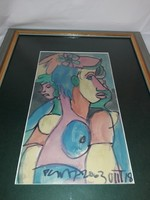 NÉMETH MIKLÓS - Virág a hajban - festmény