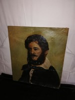 1,-Ft Antik Kossuth portré,olaj vászon,sérült!
