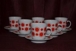Alföldi porcelán centrum varia kávésok 6 csésze + 6 alj ( DBZ 00109 )