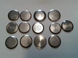 Karóra szerkezeti elem, acél hátlap, 13 db vegyesen