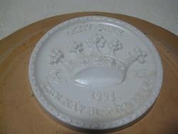 Zsolnay  plakett  , Aktív Sakk  , szignós  , 101 mm ,