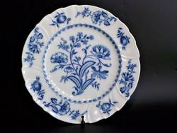Máz alatti kék festéssel régi  hagymamintás  kínáló , asztalközép