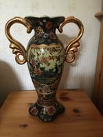 Kínai kézzel festett füles porcelán váza