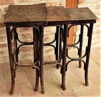 Thonet szervíz asztalok eredeti ritka antik darab !