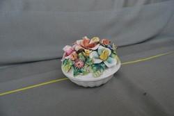 Virágos Porcelán cukortartó