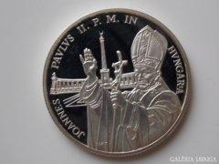 1991 PP Pápa látogatás ezüst 500 forint UNC 2
