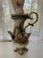 Gyönyörű Capodimonte kiöntő váza